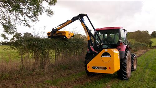 MCCONNEL PA5045 MOTION HEDGECUTTER with 1.2M (SLIDING MOUNT) SUPERCUT- EX DEMO
