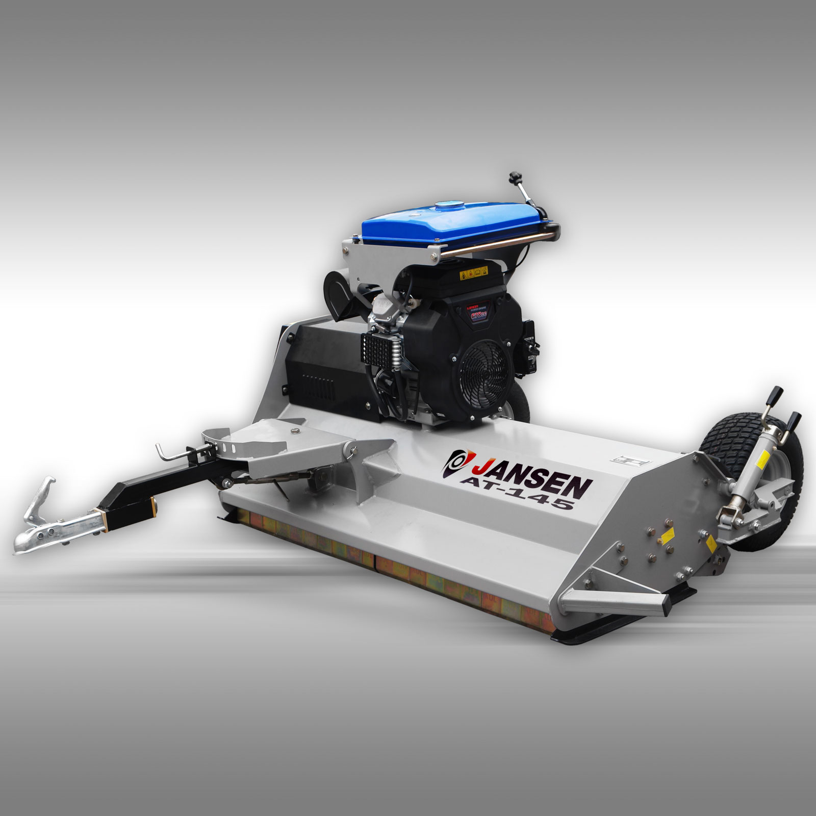 JANSEN AT-145 ATV flail mower with 22 HP petrol engine